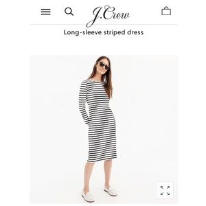 J.Crew Navy Striped Dress